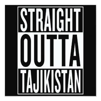 straight outta Tajikistan 13 Cm X 13 Cm Square Invitation Card