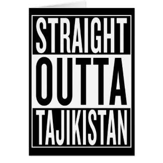 straight outta Tajikistan Greeting Card
