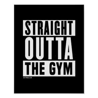 Straight Outta The Gym -   Training Fitness -.png Poster