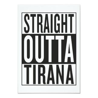 straight outta Tirana 9 Cm X 13 Cm Invitation Card