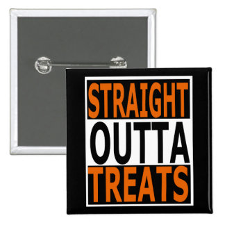 Straight Outta Treats Funny Halloween 15 Cm Square Badge