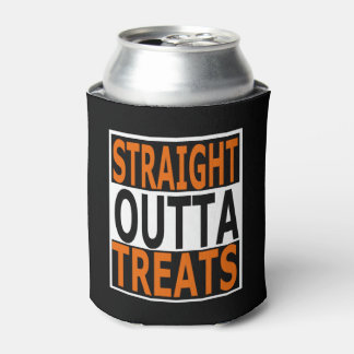 Straight Outta Treats Funny Halloween Can Cooler