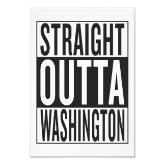 straight outta Washington 9 Cm X 13 Cm Invitation Card