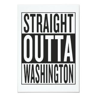 straight outta Washington 9 Cm X 13 Cm Invitation Card