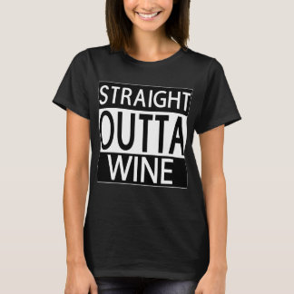 Straight Outta Wine Womens Black T-shirt