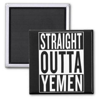 straight outta Yemen Square Magnet