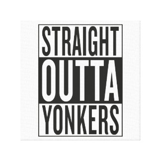 straight outta Yonkers Canvas Print