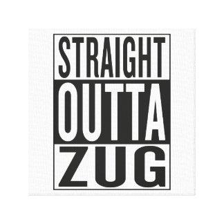 straight outta Zug Gallery Wrap Canvas