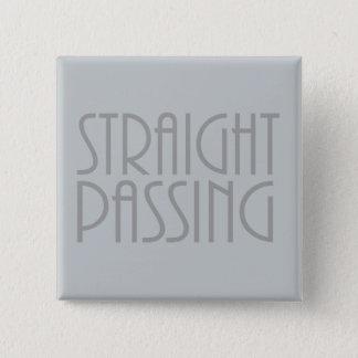 Straight Passing 15 Cm Square Badge