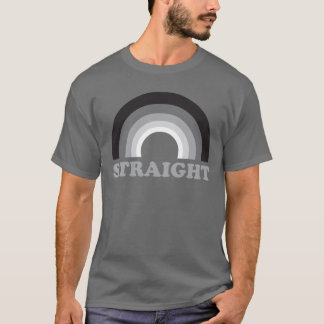 Straight Rainbow T Shirt