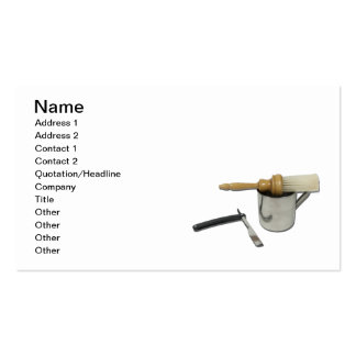 Straight Razor Brush Mug Double-Sided Standard Business Cards (Pack Of 100)