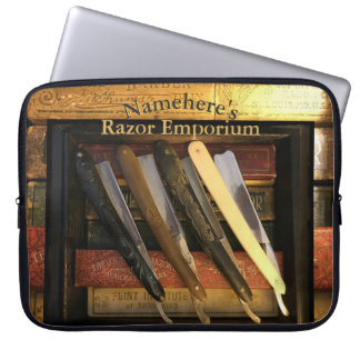 Straight Razor Collector Gift! Add NAME! Computer Sleeve