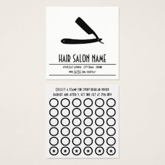 straight razor stamp card
