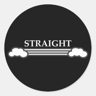 Straight Round Sticker