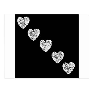 Straight to My Heart - Black and White Postcard