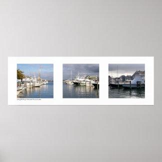 Straight Wharf, Nantucket, Massachusetts Triptych Poster