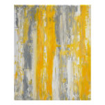 'Straighten It Out' Grey and Yellow Abstract Art Poster