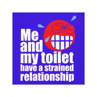 Strained Relationship Stretched Canvas Print