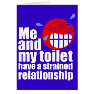 Strained Relationship Greeting Card