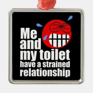 Strained Relationship Silver-Colored Square Decoration