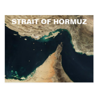 Strait of Hormuz Satellite Image Postcard