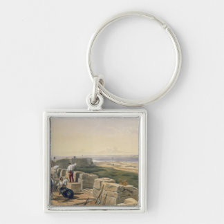 Straits of Yenikale, plate from 'The Seat of War i Silver-Colored Square Key Ring