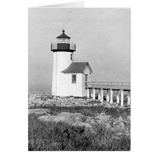 Straitsmouth Island Lighthouse Greeting Cards