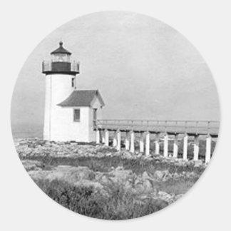 Straitsmouth Island Lighthouse Round Sticker