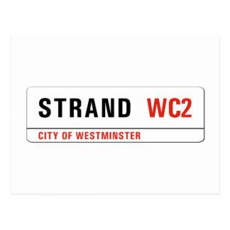 Strand, London Street Sign Postcard