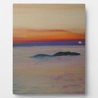 Strand mit Sonnenuntergang Plaque