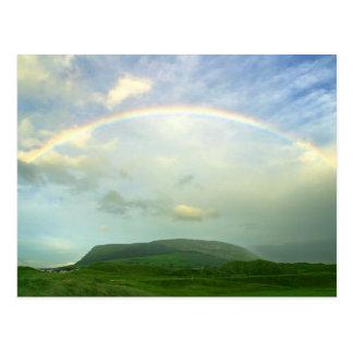 Strandhill Rainbows Clouds Over Knoicknara Postcard