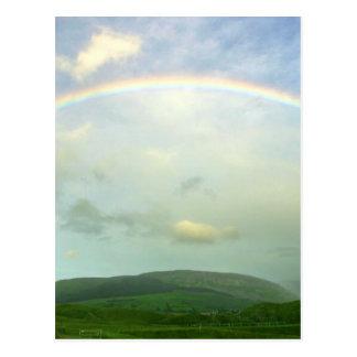 Strandhill Rainbows Clouds Over Knoicknara Post Card