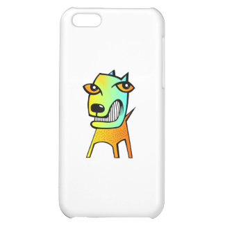 strange abstract cubism funny dog pet animal iPhone 5C cover