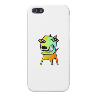strange abstract cubism funny dog pet animal iPhone 5 cover