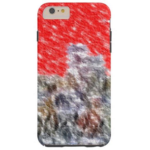 Strange abstract pattern tough iPhone 6 plus case