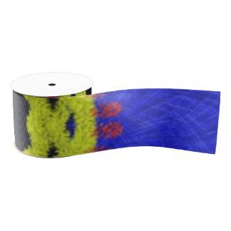Strange abstract pattern grosgrain ribbon