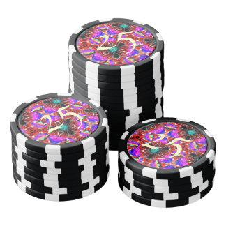 Strange abstract pattern poker chips