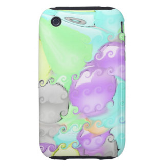 Strange abstract pattern with bright colors iPhone 3 tough cases