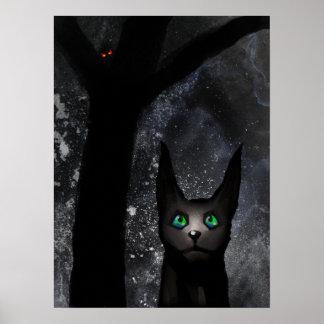 Strange Alien Cat Poster