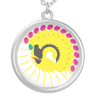 strange avatar round pendant necklace