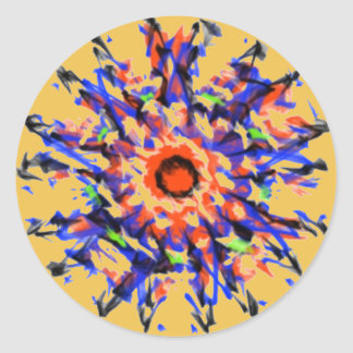 Strange awful pattern classic round sticker