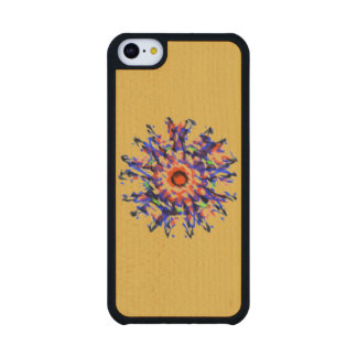 Strange awful pattern maple iPhone 5C case
