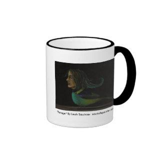 "Strange_Bird[1], ""Tanager"" By Leah Saulnier  sa... Ringer Mug"