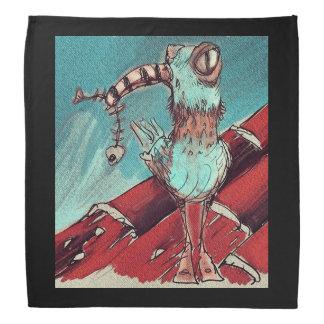 strange bird top on the roof sweet illustration kerchief