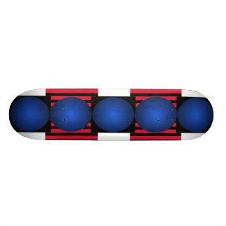 Strange Blue Skateboard