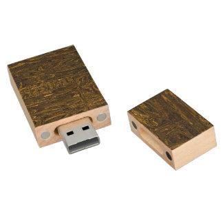 Strange chaotic wood USB 2.0 flash drive