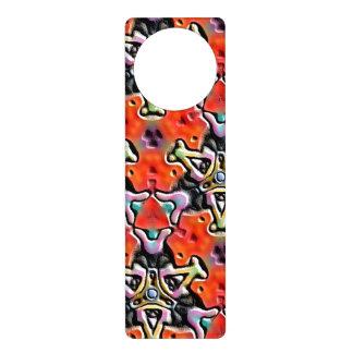 Strange colorful abstract pattern door hanger