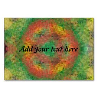 Strange  colorful art table card