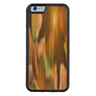 Strange colorful pattern carved cherry iPhone 6 bumper case