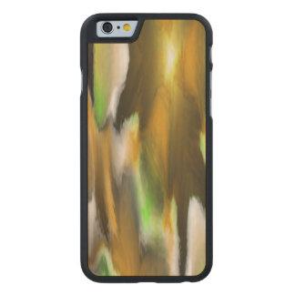 Strange colorful pattern carved® maple iPhone 6 slim case